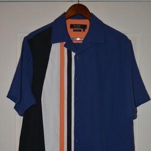 "New Nat Nast ""Sail"" Silk Camp Shirt American Fit M"